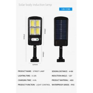 Güneş Enerjili Sokak Lambası Solar Bahçe Aydınlatma Uzaktan Kumandalı 3 Modlu 128 Cob Led