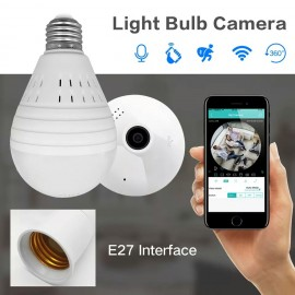2MP Gece Görüşlü Ev İşyeri Bebek Bakıcı Gizli Güvenlik Kamerası Ampul Şeklinde