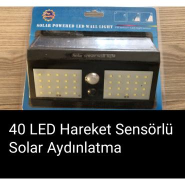 Solar 40 LED Güneş Enerjili Aydınlatma