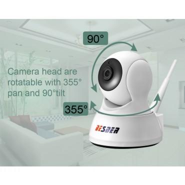 Kablosuz Wifi İp Bebek Bakıcı Güvenlik Kamerası İki Yönlü Ses gece Görüş