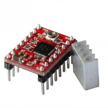 3D Yazıcı Parçaları Reprap A4988 Step Motor Sürücü Modülü ve Aluminyum Soğutucu